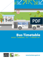 Massey Bus Timetable Booklet