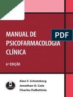 Manual de Psicofarmacologia - Schatzberg - 2009