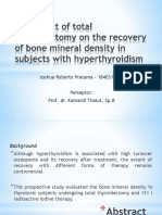 The Effect of Total Thyroidectomy on the Recovery