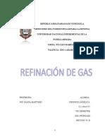 Trabajo de Refinacion de Gas