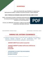 Farmaci Sistema Colinergico