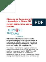 Hipnose Na Cama Para Homens