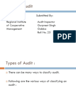 Types of Audit by Gurpreet Gabba