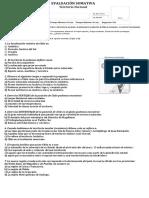 Evaluación de Contenidos N° 1 - Sexto Básico (Territorio Nacional)