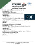 Área de Concentração Geologia Marinha 2019.1