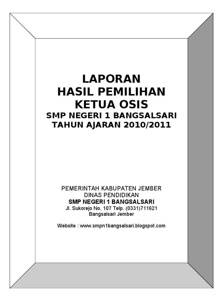 Contoh Surat Suara Pemilihan Ketua Osis Doc Kumpulan Surat Penting