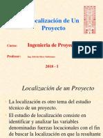 Teoria Localizacion de Proyectos