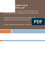 Role of Plannig Law in Environmental Law