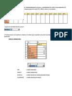 Procedimiento en Excel