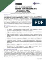 Syllabus Especialización de Agente Inmobiliario Marzo 2014