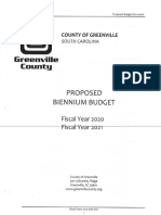 2020-2021 Greenville County Proposed Budget