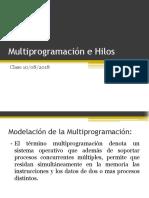 Multiprogramación e Hilos