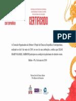 Certificado - o Papel Da China Na Geopolítica Contemporânea