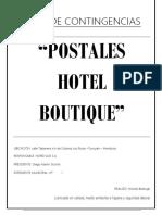 Plan de Contingencias Hotel Boutique