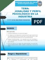 Personalidad y Perfil Psicologico en La Industria