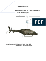 Report for Design of Swash Plate of Helicopter