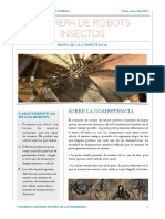 Bases Carrera de Robots Insectos Concurso Robotica 2015