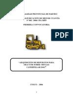 Adquisición de Repuestos Para Tractor Sobre Orugas d6g