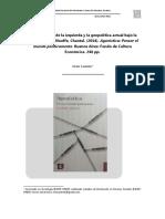 Revista de Practicas y Discursos . Reseña Agonistica
