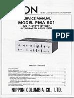Denon PMA 501 Service Manual