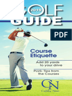 Cadillac News 2019 Golf Guide