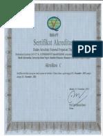 Sertifikat Akreditasi TI (Berlaku 2015-2020)