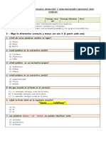 prueba lenguaje 2° diferenciada