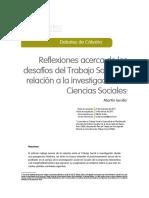 Reflexiones acerca del desafío del Trabajo Social en relación a la investigación en las Ciencias Sociales.  Martín Ierullo