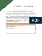 Permisos de Archivos y Carpetas en Linux