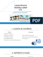 Cuenta Ahorros vs a Plazo vs CTS