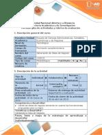 Guía de Actividades y Rúbrica de Evaluación - Paso 3 - Diseño, Aplicación de Instrumento