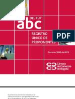 ABC Cartilla Guia Para La Elaboracion Del Registro Unico de Proponentes 2015