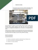 Factores de Riesgo en Ocupacion de Cocina