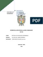 Informe de La Visita Tecnica a La Unidad Minera CARAHUACRA