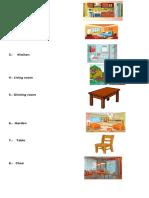 Temario Ingles Partes de Una Casa