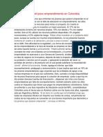 Causas Del Poco Emprendimiento en Colombia