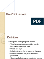 One Point Lessons