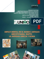 Déficit Mental en El Mundo Antiguo Mesopotamia, Egipto, La Antigua Grecia y Roma