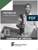 Vestibular Prova 2017 Ifsc