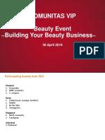 Beauty Event Catalogue