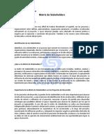 2. Matriz de Stakeholders