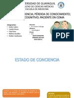 CONCIENCIA, DETERIORO COGNITIVO, COMA.pptx