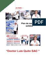 Plan de Residuos Solidos Doctor Luis Quito