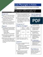 Adult Acute Pharyngitis CDC