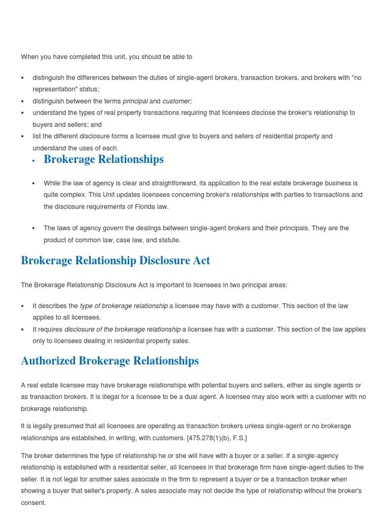 Brokers And Sellers >> Broker Real Estate Broker Law Of Agency