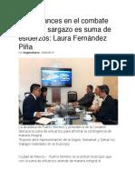 Avances en el combate contra el sargazo es suma de esfuerzos- Laura Fernández Piña