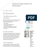 ISO Organization Deliverables