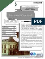 Instituto Aocp 2013 Colegio Pedro II Assistente de Administracao Prova