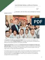 21-05-2019 Firman convenio para brindar lentes a niños en Sonora-El Heraldo