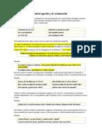 Signos de Interrogación, Exclamación y Clasificación de Conjunciones